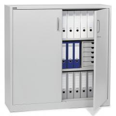 Draaideurkast BASE LINE lichtgrijs RAL 7035 | 800 | lichtgrijs RAL 7035 | 1200 mm (3 OH)