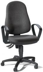 bureaustoel BASE ART 70 incl. armleggers antraciet | vaste armleggers