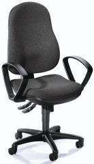 Bureaustoel COMFORT I incl armleggers antraciet   polyamide zwart