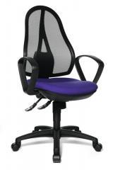 Bureaustoel COMFORT NET incl. armleggers, kruisvoet zwart