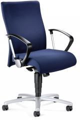 Bureaustoel DV 30 met armleggers donkerblauw | vaste armleggers | aluzilver