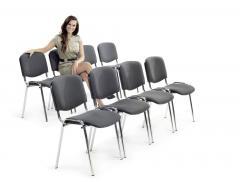 12 Bezoekersstoeln ISO in SET
