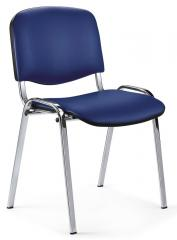 Bezoekersstoel ISO kunstleder - onderstel verchroomd