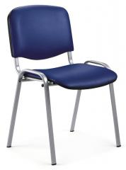 Bezoekersstoel ISO kunstleder - onderstel aluzilver