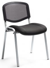 Bezoekersstoel ISO NET - onderstel verchroomd