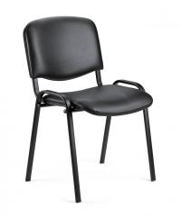 Bezoekersstoel ISO kunstleder - onderstel zwart
