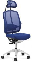 Bureaustoel MATTEGO incl. armleggers blauw | aluzilver | ja