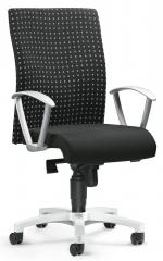 Bureaustoel PROFI ART inclusief armleggers zwart ruit grijs | vaste armleggers