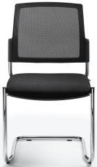 Bezoekersstoel VALERA S zwart | zonder armleggers | stof met netweefsel
