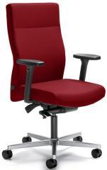 Bureaustoel winSIT zonder arml. voet aluzilver, tegendrukaanpassing