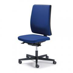 Bureaustoel ecoSIT zonder armleggers, rug stof