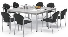 SET AANBIEDING conferentietafel BASE-MODUL Q + stoelen