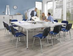 SET-AANBIEDING x tafel rechthoekig + 12 x bezoekersstoel
