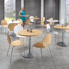 Cafetariatafel-systeem rond