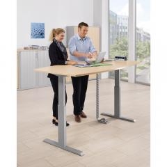 Zit-/sta vergadertafel BASIC - elektrisch hoogteverstelbaar