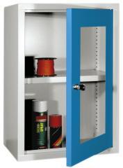Draaideur-Wandkasten met acrylglas deuren