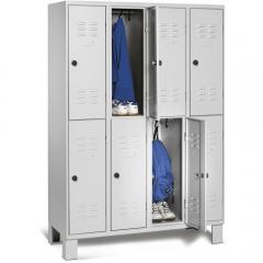 Garderobekasten COLOR met dubbele afdelingen - met pootjes