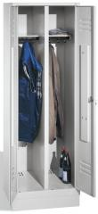 Garderobekasten CLASSIC - 2 afdelingen, 1 afsluiting, met sokkel