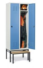 Garderobekasten BASIC met uittrekbare zitbank