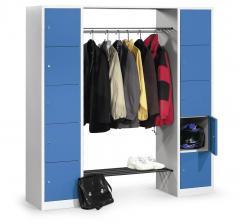 Garderobe-combinatie met vakkenkasten