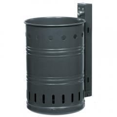 Runde Abfallbehälter mit Ringwölbung