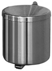 Veiligheids wandasbak, 2 liter volume edelstaal