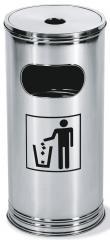 Afvalcontainer/asbak Kombi