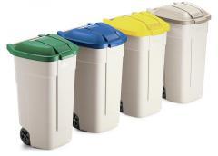 Verrijdbaar afvalcontainer