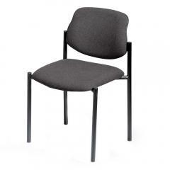 Bezoekersstoel FLORA I antraciet | zonder armleggers | zwart