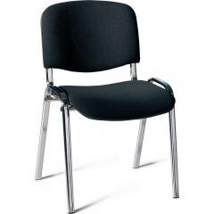 Bezoekersstoel ISO - onderstel verchroomd