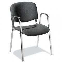 Bezoekersstoel ISO inclusief armleggers - onderstel verchroomd