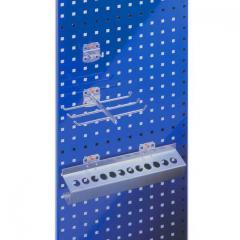 Systeem RASTERPLAN geperforeerde platen gentiaanblauw RAL 5010 | 1000