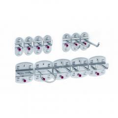 Assortiment gereedschapshouders witaluminium RAL 9006 | 12-delig