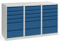 Ladekast WS PROFI SYSTEM met greeplijsten SET 3x 6 lades, 4 x 100mm, 2 x 200 mm