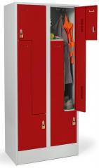 Z-garderobenkasten metaal met gladde deuren