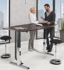 Zit-/sta vergadertafel COMFORT - elektrisch hoogteverstelbaar