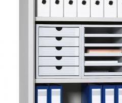 Set kunststof ladeboxen lichtgrijs | 3 Boxen, geschlossene Schübe