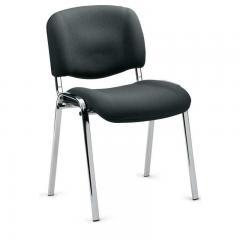 Bezoekersstoel ISO PLUS - onderstel verchroomd