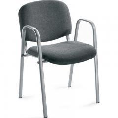 Bezoekersstoel ISO inclusief armleggers - onderstel aluzilver