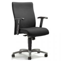 Bureaustoel DV 30 incl. armleggers zwart | verstelbare armleggers | aluzilver | geen