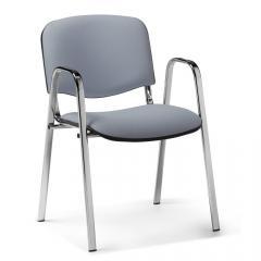 Bezoekersstoel ISO S lichtgrijs | inclusief armleggers