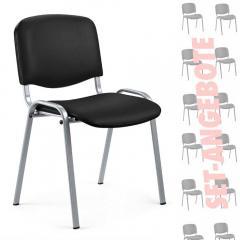8 bezoekersstoelen ISO in SET - kunstleder V