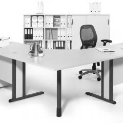 Verbindingsbladen 90° vierkant voor Basic bureaus