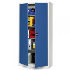 Top-aanbeidings-werkplaatskast B 950 mm, gentiaanblauw RAL 5010