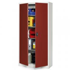 Top-aanbeidings-werkplaatskast B 950 mm, robijnrood RAL 3003