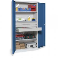 Metalen draaideurkast WS PROFI SYSTEM lichtgrijs RAL 7035   1950   4   0