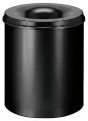 Papiermand met vlamdover, 80 liter zwart | 80,00