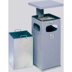 As-afvalbak met regendak reinwit RAL 9010 | 72,00