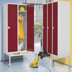 Garderobekasten PROFI SYSTEEM met ondergebouwde zitbank