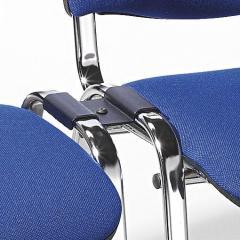 Koppelstuk voor bezoekersstoel ISO zwart